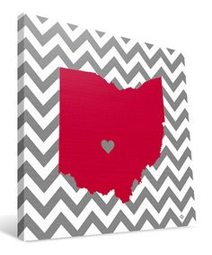 Loving this Ohio State Buckeyes State Love Wrapped Canvas on #zulily! #zulilyfinds