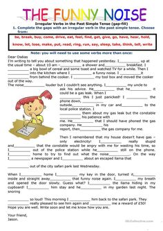 PAST SIMPLE TENSE: FILLING IN THE GAPS USING THE VERBS IN THE PAST SIMPLE - English ESL Worksheets for distance learning and physical classrooms Parts Of Speech Worksheets, Social Studies Worksheets, 2nd Grade Worksheets, Printable Worksheets, Teaching English Grammar, English Grammar Worksheets, English Verbs, Simple Past Tense Worksheet, Irregular Past Tense Verbs