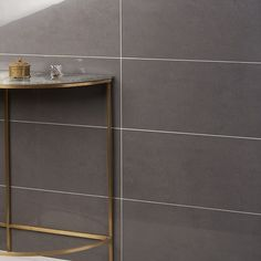 NewTech Antracite 12x24 Double Loaded Polished Porcelain Tile