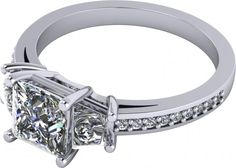 2.18Ct Princess Cut Engagement Ring Available In 14K, 18K and Platinum  Agape Diamonds. Lab created diamonds. Man made diamonds. Wedding. Engagement ring. Wedding ring. Bridal. Gold. Platinum. Diamond. Simulated diamond.