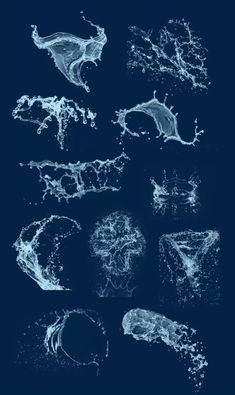 AnatoRef — Water Splash Tutorial Top Image Row 2 Row 3 Row 4:...