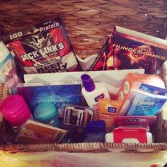 Birthday gift: 13 year old survival kit. A fun gift every 13 year old girl would need for womanhood :)