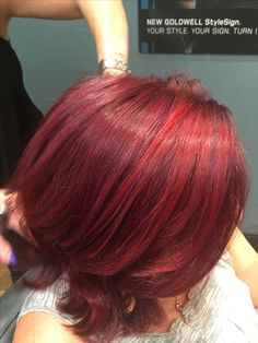Goldwell Reds! #andreareeshair