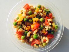 PEARL BARLEY RAINBOW VEG. Pearl Barley, Kung Pao Chicken, Fruit Salad, Rainbow, Ethnic Recipes, Kitchen, Baby, Food, Rain Bow