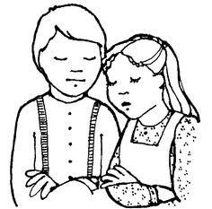 free lds clipart to color for primary children _original handout for pioneer children - Lds Primary Coloring Pages Prayer