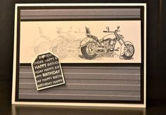 Stampin' Up!, Motorcycle, Masculine, Birthday