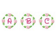 DD Rose Bud Alphabet Machine Embroidery Designs  http://www.designsbysick.com/details/rosebudalpha