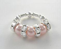Chunky Bead Swarovski Beaded Ring - Swarovski Pearl Ring, Rosaline -  Pink & Silver Chunky Ring. $12.95, via Etsy.