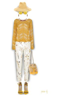 """""""Ocher with floral"""" by peace-rf ❤ liked on Polyvore featuring River Island, Glamorous, ONLY, Steve Madden, La Carrie, Oakley, NOVICA and Forte Forte"""