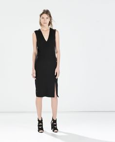 ZARA - WOMAN - V-NECK DRESS WITH SLIT