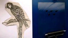 lino print #artwork #graphic #blackandwhite #contemporaryart #art #linocut #linoprint #print #animals #contemporary Linoprint, Parrot, Contemporary Art, Crafty, Artwork, Animals, Parrot Bird, Work Of Art, Animales