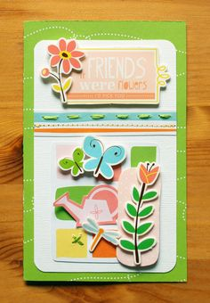 If Friends Were Flowers I'd Pick You card - by Michelle Clement using Gardenia by American Crafts
