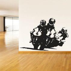Wall Vinyl Decal Sticker Bedroom Decal Motorcycle Moto Gp Bike Motorbike z621