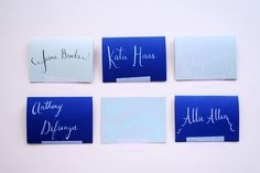 Custom calligraphy place cards from Paper Pastries