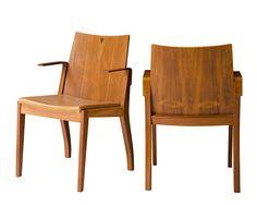 Cadeira Marina com Braços | Fernando Jaeger Atelier #design #brasileiro #móvel #madeira #decoração #fernandojaegerdesign