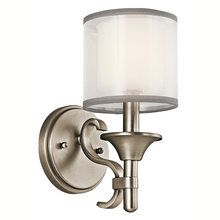 View the Kichler 45281 Traditional / Classic 1 Light Up Lighting Wall Sconce from the Lacey Collection at LightingDirect.com.