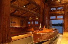 """""""ummmmm, you could put your boat there...""""  Nisswa Boathouse, MN. Designer Marie Meko"""