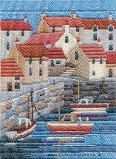 Coastal Summer Long Stitch Kit from Derwentwater Designs