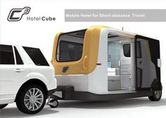 """Check out the C3 Hotel Cube Camper... a concept trailer that helps you """"go green"""". Enjoy the outdoors, the RV life with a solar powered rig?"""