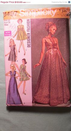 SALE Uncut 1960's Simplicity Sewing Pattern 8497 by EarthToMarrs, $9.60