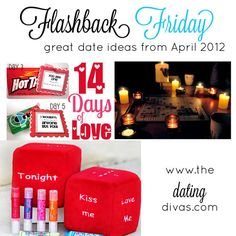 Missed some of our April posts last year? Find them all right here in one post!  www.TheDatingDivas.com #flashbackfriday #dateideas #love