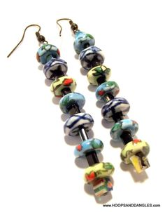 Handcrafted Costume Jewelry Vintage Blue Green by hoopsanddangles, $2.99