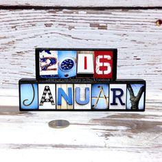 Dauerkalender Holz Jahreskalender Ewiger Kalender Tischkalender Holzkalender A6