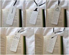 Set of 5 Harry Potter bookmarks unique bookmark