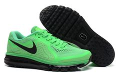 982b492a16b34 Cheap Nike Air Max 2014 Green Black Men s Running Shoes  cheap  green  shoes
