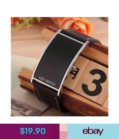 04afad14bcfb Wristwatches Reloj De Pulsera Para Hombre Mujer Moda Sport Led Digital De  Cuero Regalo Negro  ebay  Fashion
