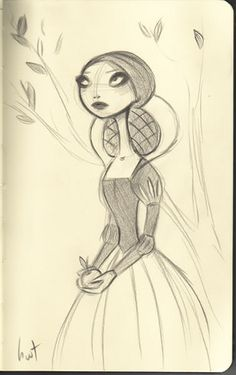 Snow White Sketch by, Krista Huot