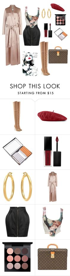"""Untitled #74"" by sapphiretearsxo ❤ liked on Polyvore featuring Balmain, Gucci, Smashbox, Galvan, Vivienne Westwood, MAC Cosmetics and Louis Vuitton"