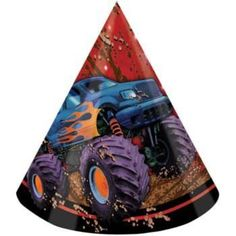 Check out Monster Truck Party Hats (8-pack) - Wholesale Party Decorations from…