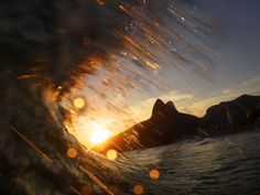 Sunset Wave in Rio #Brazil |  Photo By - Pedro Ripper