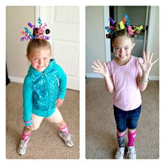 Crazy Hair Day Idea! This is actually do - able without waking at the Crack of dawn on a school morning!!!