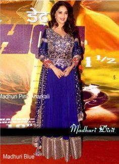 Shop Online Blue Rowsilk &D.Jorjet #BollywoodSalwarKameez @Chennaistore.com