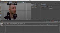 C4D silent tip 4: part 1 - Camera mapping a head using camera mapping and sculpt tools (NO AUDIO)