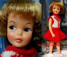 Vintage Ideal Tammy 9 Pepper Doll with outfit, panties & shoes