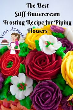 30 Exclusive Picture of Birthday Cake Icing Recipe . Birthday Cake Icing Recipe Stiff Buttercream Frosting For Cake Decorating Buttercream Flowers Stiff Buttercream Frosting Recipe, Buttercream Flowers Tutorial, Piping Frosting, Frosting Flowers, Buttercream Decorating, Frosting Recipes, White Buttercream, Butter Icing, Fondant Icing