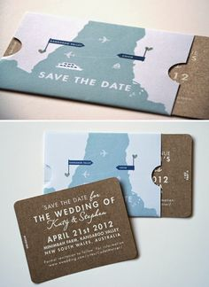 Travel Themed Wedding Invitations | http://simpleweddingstuff.blogspot.com/2014/05/travel-themed-wedding-invitations.html