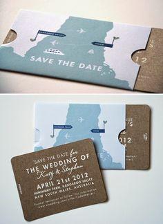 Travel Themed Wedding Invitations | http://simpleweddingstuff.blogspot.com/2014/05/travel-themed-wedding-invitations.html