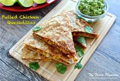 Slow Cooker Pulled Chicken Quesadillas