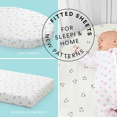 Choose between baby bears or little rabbits  for the Stokke Sleepi and Home bed sheets!  Which one will your little one love the most?