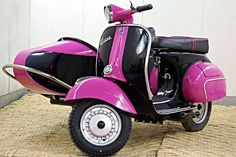 1966 Vespa 150 Scooter with Sidecar.