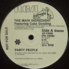 Funk-Disco-Soul-Groove-Rap: The Main Ingredient - Party People