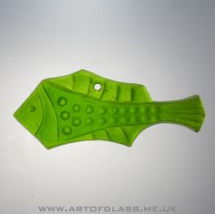Swedish green glass fish suncatcher