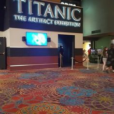 Titanic - The Artifact Exhibition - Las Vegas, NV, United States. The front of the exhibit!
