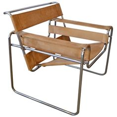 Wassily Chair By Marcel Breuer | From a unique collection of antique and modern lounge chairs at http://www.1stdibs.com/furniture/seating/lounge-chairs/