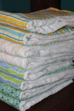 DIY Burp Cloths from prefold diapers