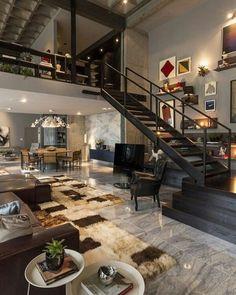 Preto, cinza, muito design e pitadas de cor! Apaixonada, apaixonante essa inspiração pescada do #Pinterest {}